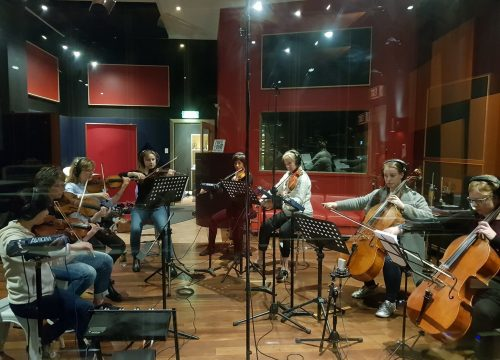 Amicus Strings octet for television commercial
